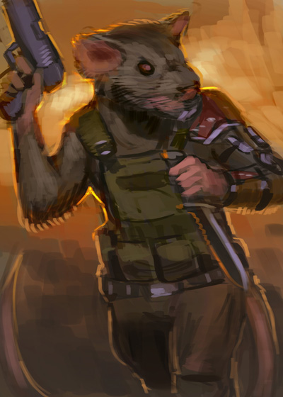 rat soldier by johnariosa-d4v5gn5