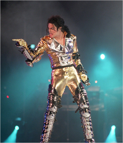 michael jackson in gold lame with leathe