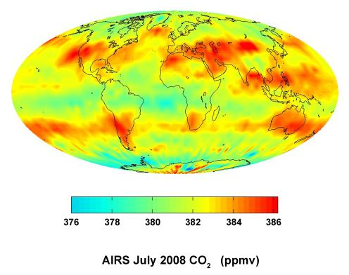 Global carbon dioxide AIRS