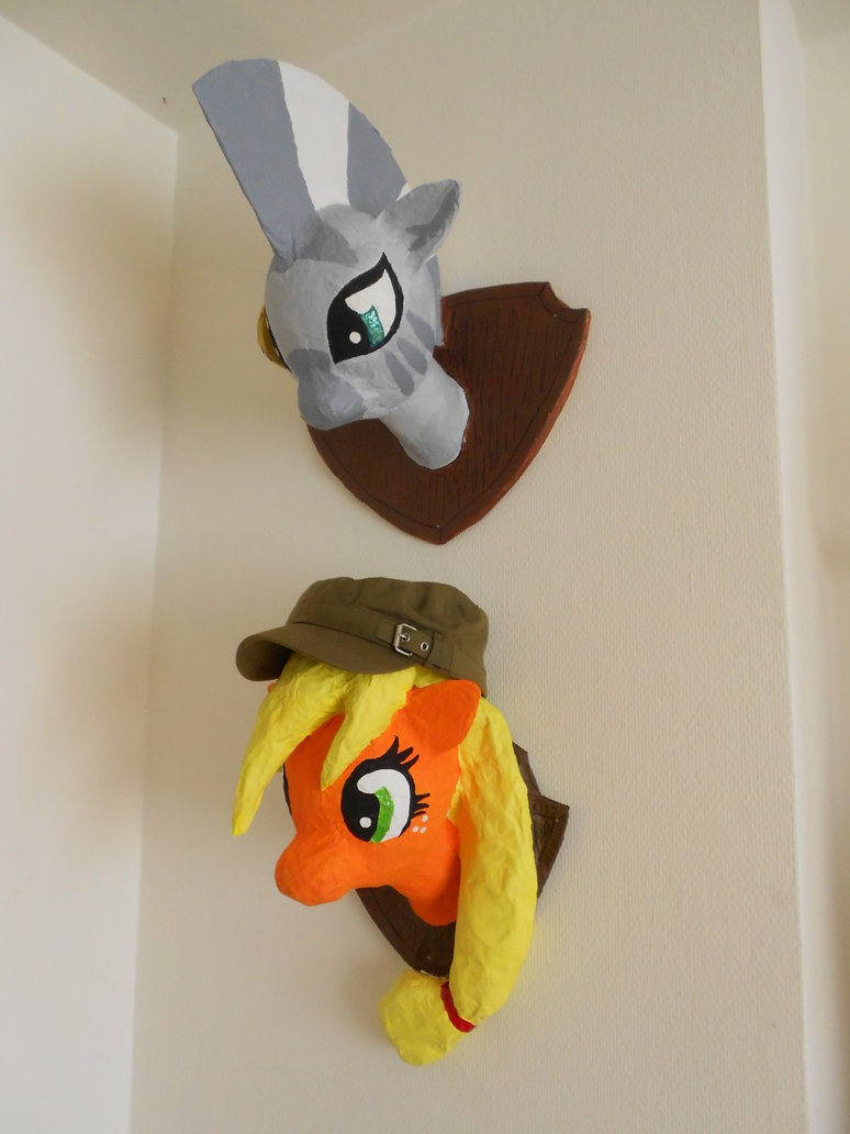 mlp  hunting trophy  2 zecora and aj by
