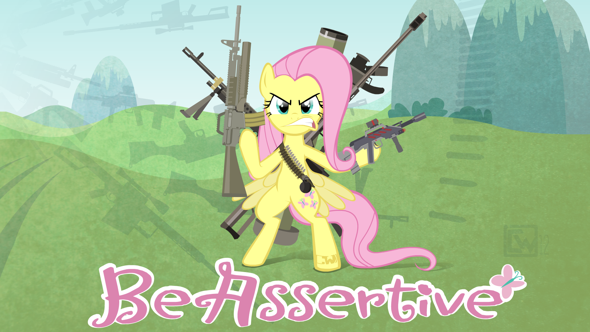 fluttershy sez be assertive by heart0fth