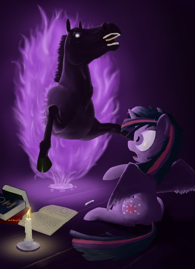 twilight summons a horse by phiktorial-d