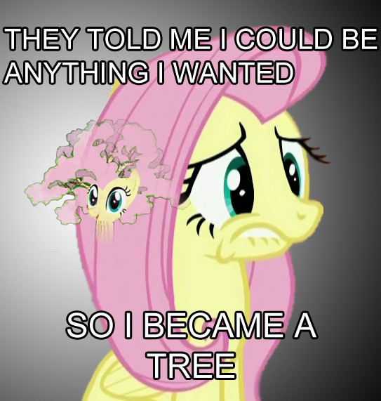 7438 - fluttershy fluttertree leafing th
