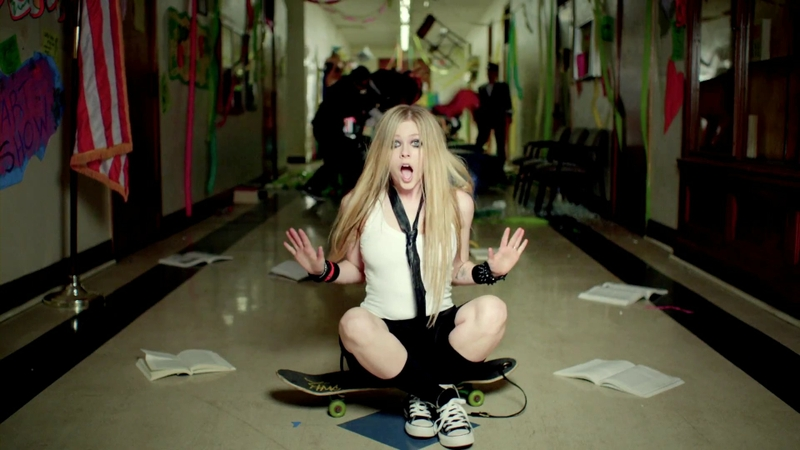 women avril lavigne school music video s
