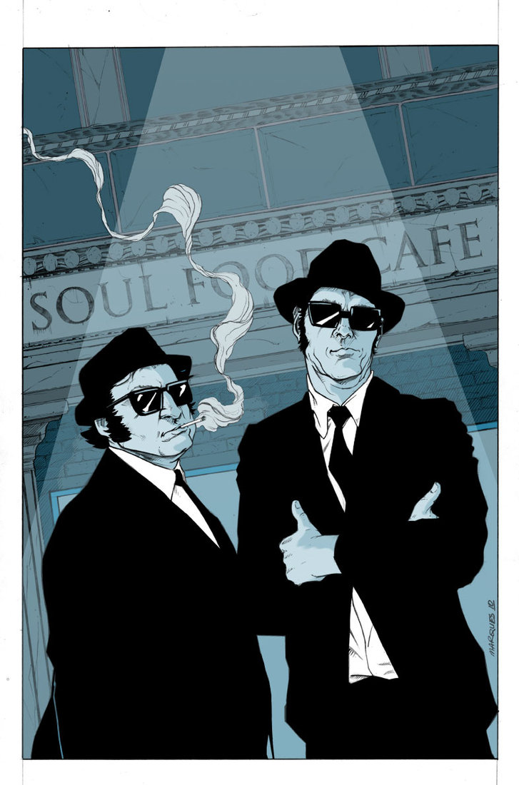 blues brothers in color by anthonymarque