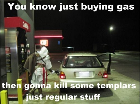 tqgQzIW Ezio-from-Assassins-Creed-Pumping-Gas
