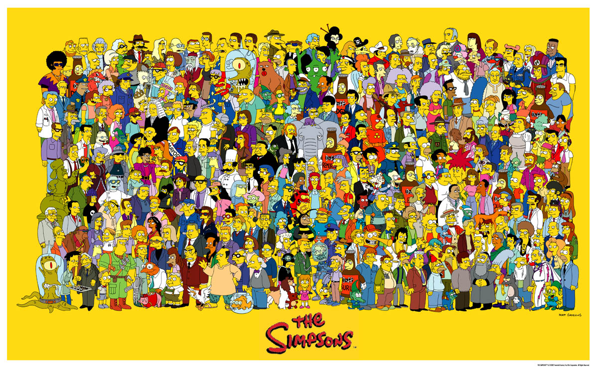 twSMRt2 Poster Simpson All charact b2