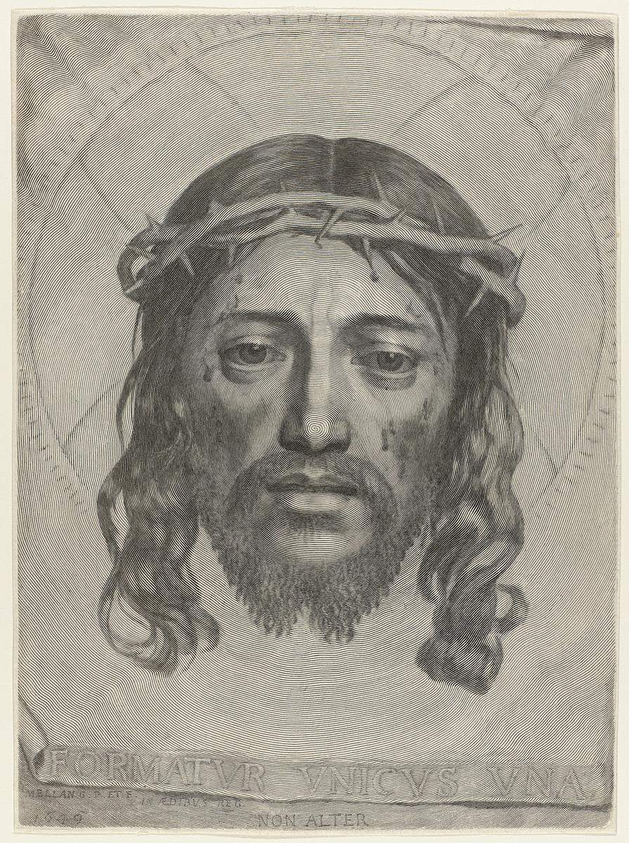 Claude Mellan - Face of Christ - WGA1476