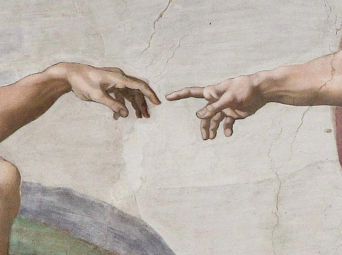 Creation of Adam 28Michelangelo29 Detail