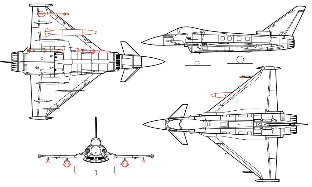 Eurofighter Typhoon line drawing