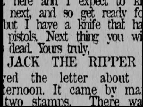 Youtube: Jack the Ripper - James Kelly - Documentary [part 1]