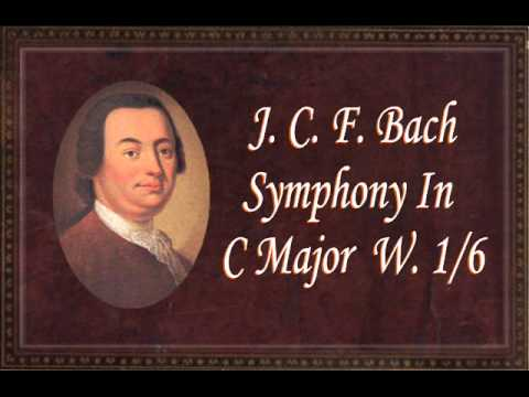Youtube: J.C.F. Bach - Symphony In C Major W.1/6