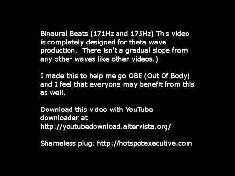 Youtube: Pure Binaural Beats -Theta brain waves.