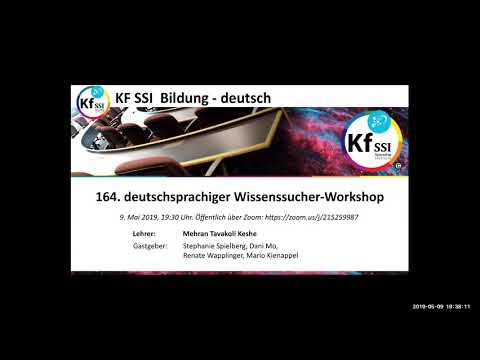 Youtube: 2019 05 09 PM Public Teachings in German - Öffentliche Schulungen in Deutsch