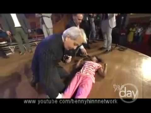 Youtube: Benny Hinn - 20 year old girl walking for the first time in her life