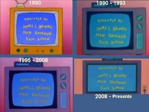Youtube: The Simpsons intro since the 90'