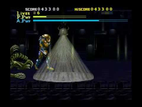 Youtube: Alien vs Predator (snes) Part 2: A hit and dive into the water boss.