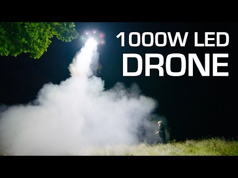 Youtube: 1000W LED on a DRONE - RCTESTFLIGHT