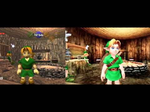 Youtube: The Legend Of Zelda Ocarina Of Time N64/3DS Comparison Pictures