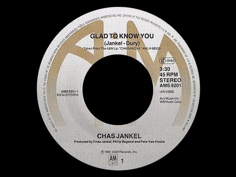 Youtube: Chaz Jankel ~ Glad To Know You 1982 Funky Purrfection Version