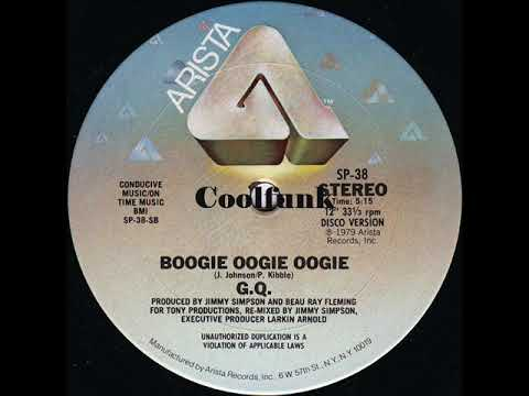 Youtube: G.Q. - Boogie Oogie Oogie (12 inch 1979)