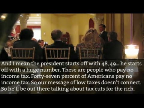 "Youtube: Mitt Romney's ""47 Percent"" Comments"