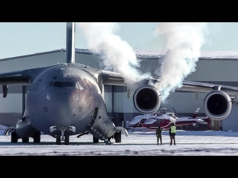 Youtube: SMOKY COLD START | RCAF CC-177 Globemaster III [177701] Departing Calgary Airport