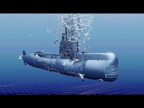 Youtube: Submarine ARA San Juan Simulation (Implosion + Sinking), similar to KRI Nanggala 402