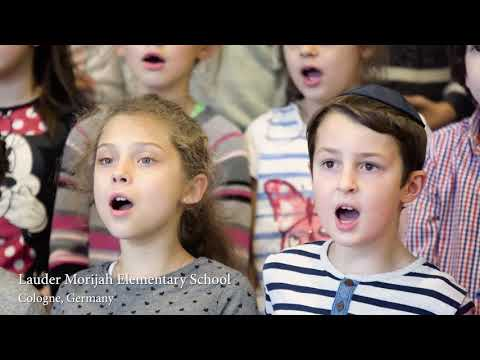 Youtube: Hatikvah Sung by Lauder Students