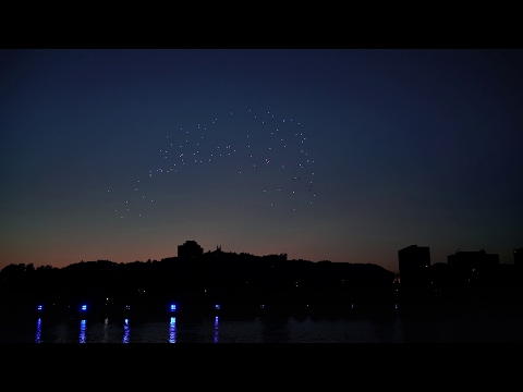 Youtube: Spaxels over Linz