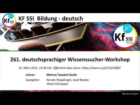 Youtube: 261. Wissenssucher Workshop, 25. März 2021
