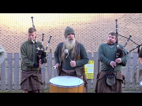 "Youtube: Scottish tribal pipes & drums band Clanadonia playing ""Ya Bassa"" during St Andrew's Day event 2019"