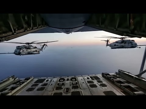 Youtube: Super Stallion Helicopters Refuel In Flight