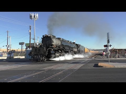 Youtube: Union Pacific Big Boy #4014 Departing Las Vegas At Wyoming Avenue (10/8/19)