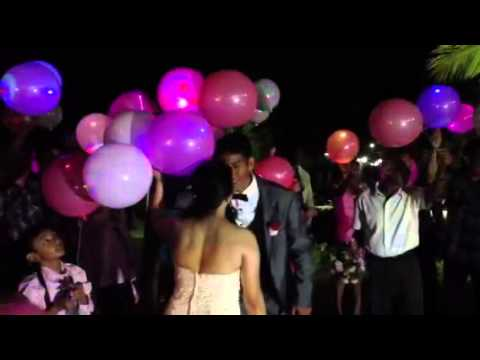 Youtube: Anton and Jenny's Wedding - LED Balloon Release