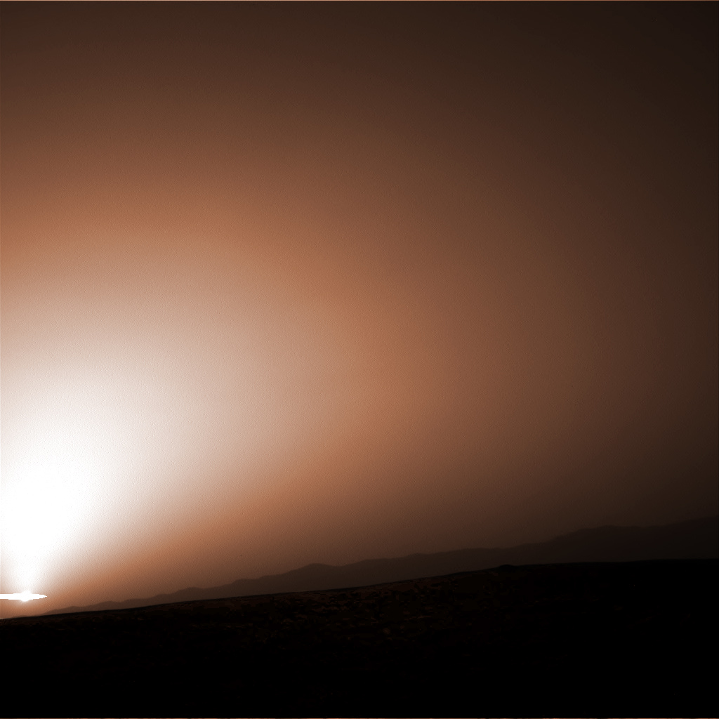 Curiosity Mars sunset