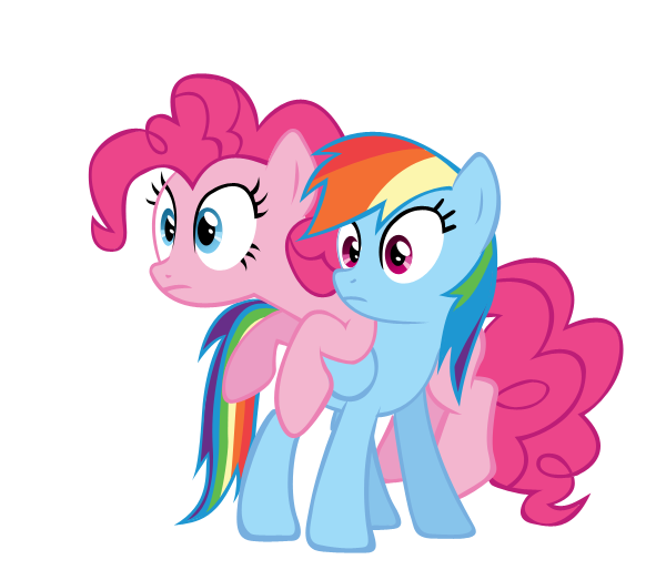 rainbow dash and pinkie pie vector by ke