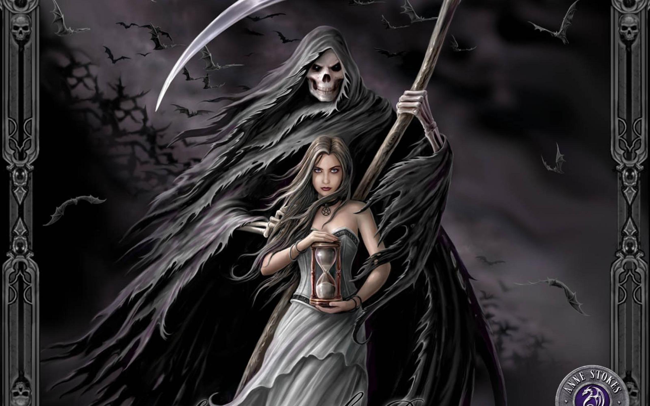 фэнтези графика женщина Grim Reaper  № 3256152 загрузить