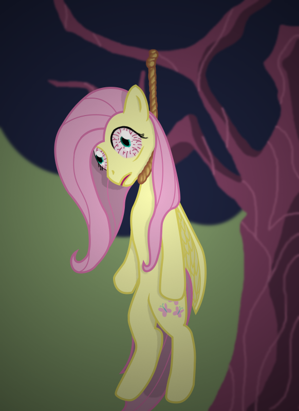 for toscikxd   dead fluttershy  by halog