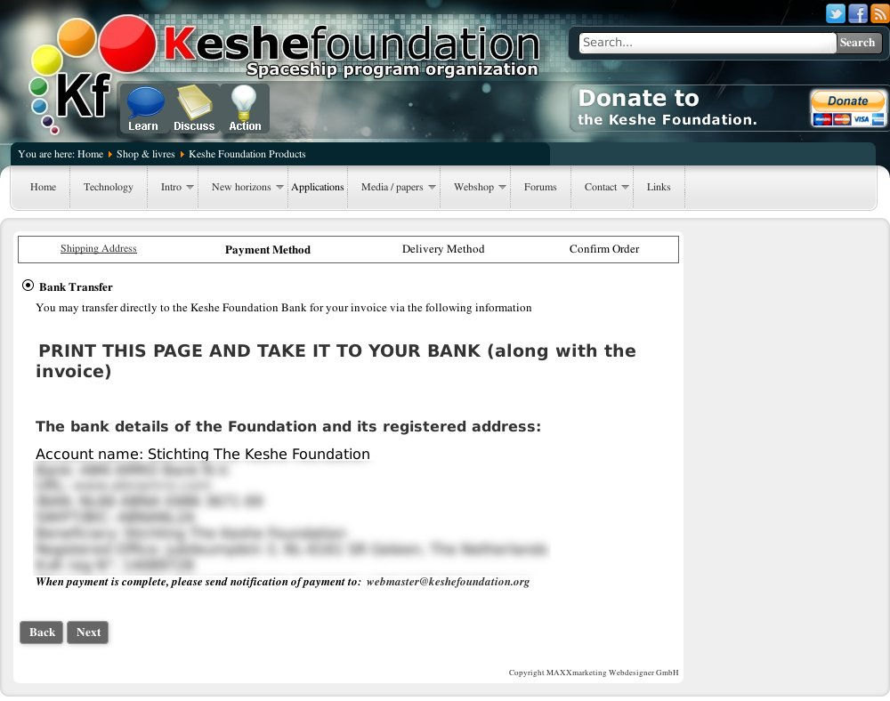 Keshe MPS Payment X
